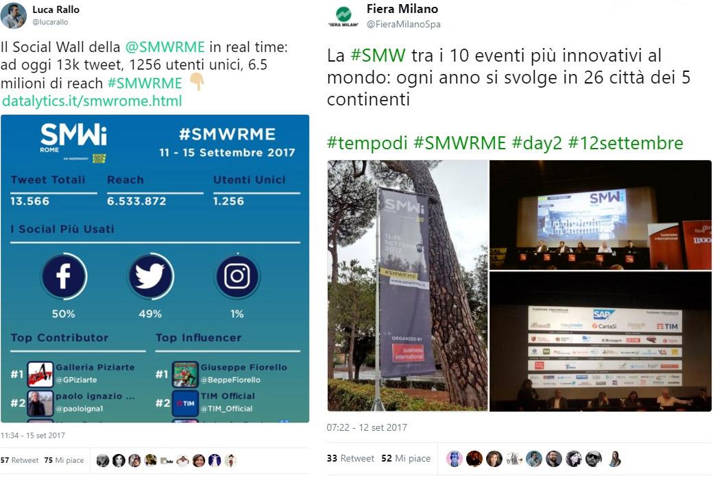 Social Media Week Rome Tweets