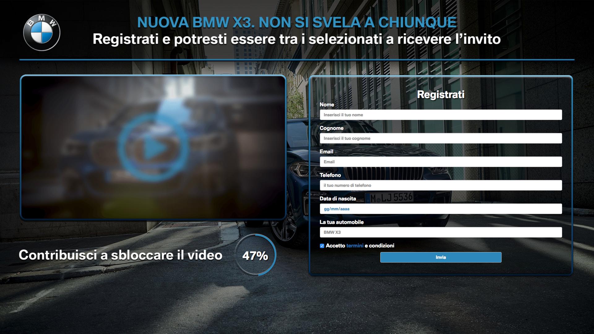 BMW Roma - Evento di lancio Nuova BMW X3