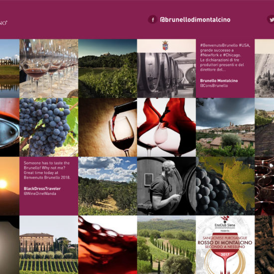 Brunello social wall