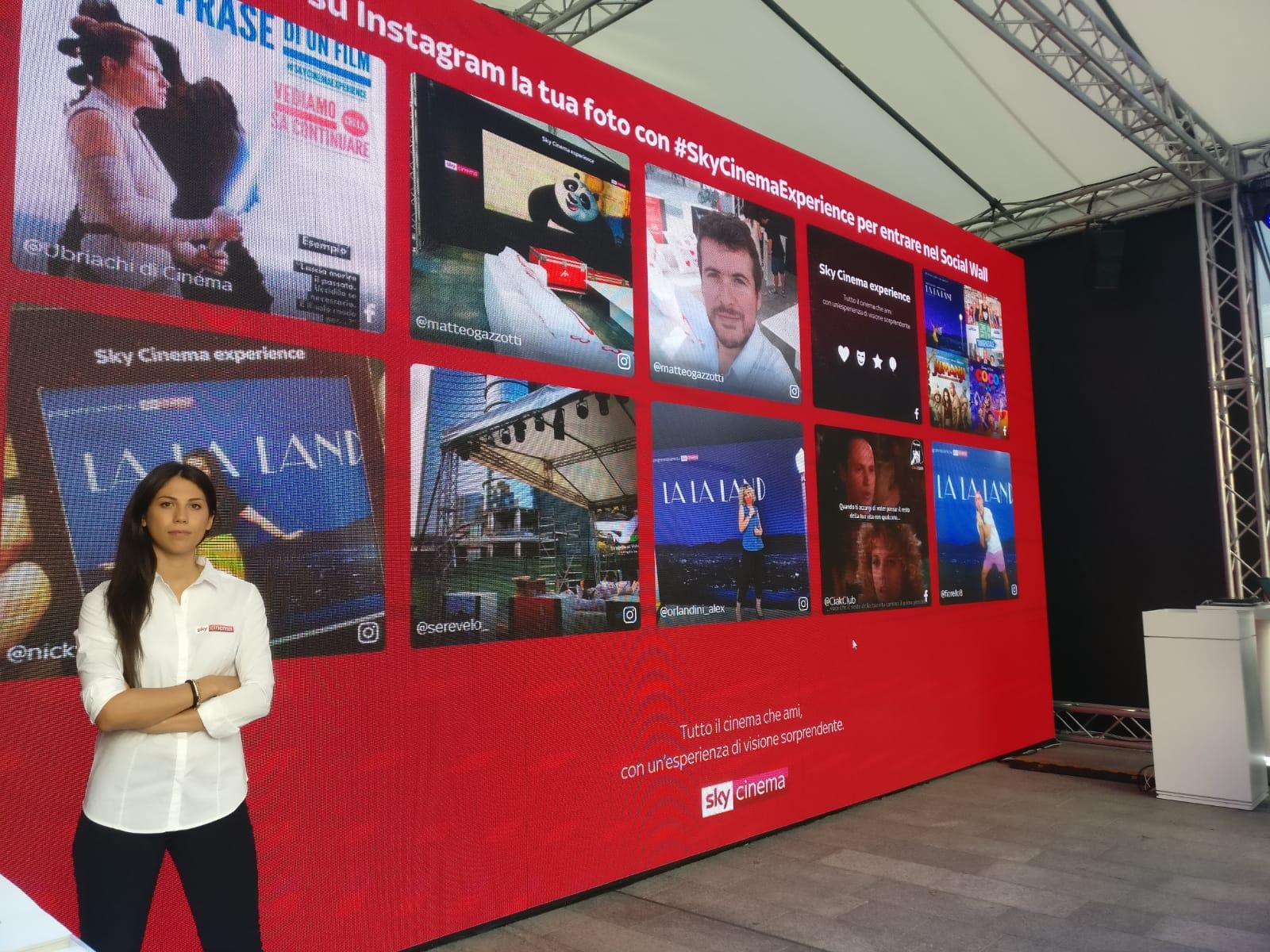 social wall sky cinema experience