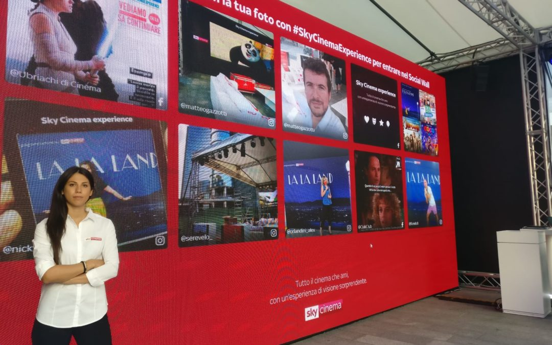 Milano Movie Week, Sky Cinema lancia il Social Wall #SkyCinemaExperience