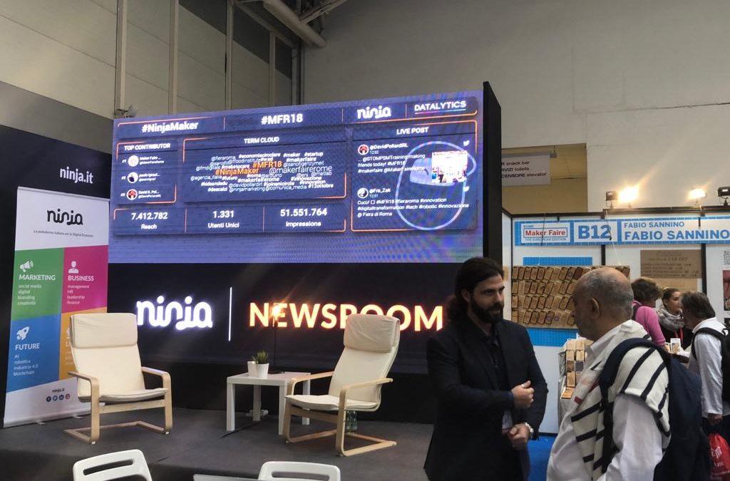 Ninja Marketing alla Maker Faire Rome 2018