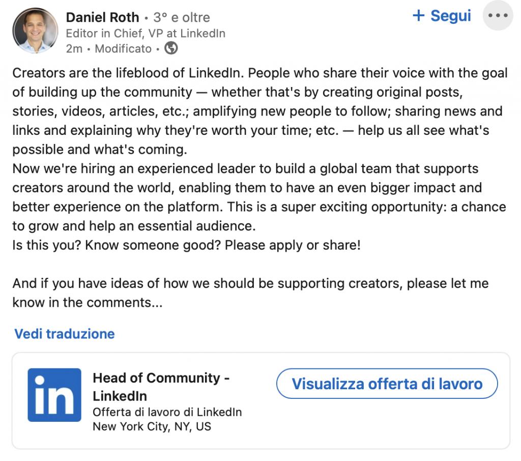 Programma Creators Linkedin