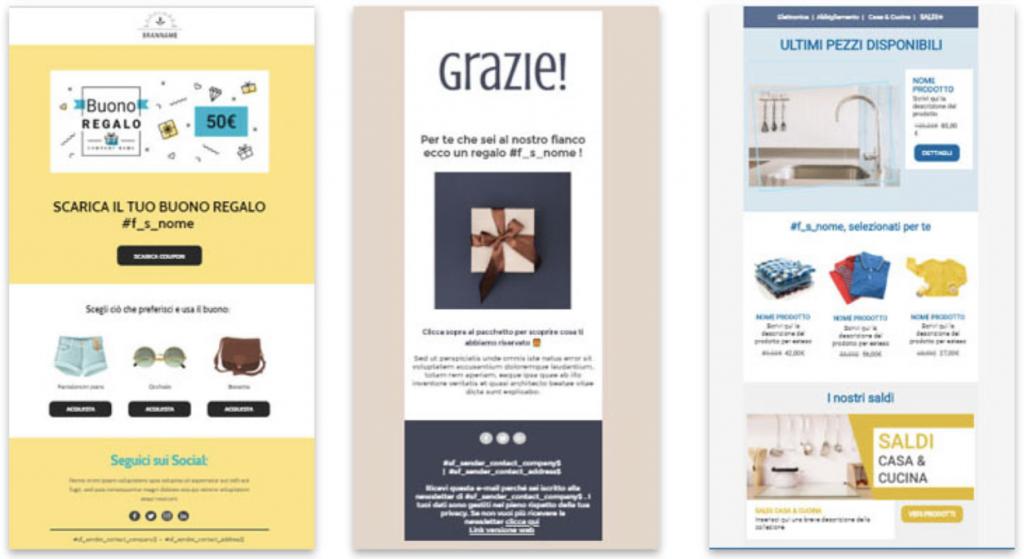 e-mail marketing mailing list esempio