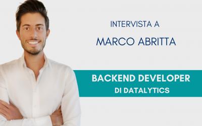 #ConosciDatalytics: Marco Abritta, backend developer